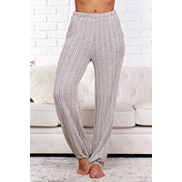 Best Regards Striped Joggers (Charcoal/Oatmeal)