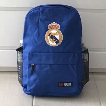 Real Madrid Backpack Bag Blue School Kids CR7 Ramos Isco 2017 Canvas NEW!