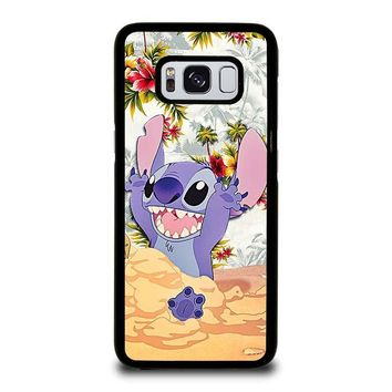 DISNEY LILO & STITCH VINTAGE FLORAL Samsung Galaxy S3 S4 S5 S6 S7 Edge S8 Plus, Note 3 4 5 8 Case Cover