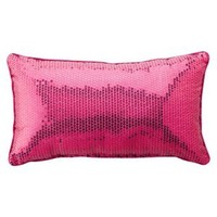 "Xhilaration® Sequin Decorative Pillow - Pink (10x18"")"
