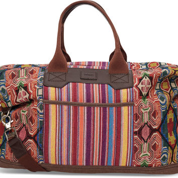 TOMS multi pattern mix departure duffel bag