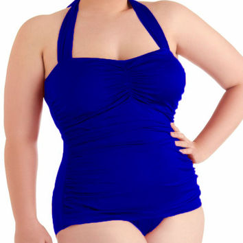 2016 Plus Size Swimsuit - One Piece - Pushup Bandage