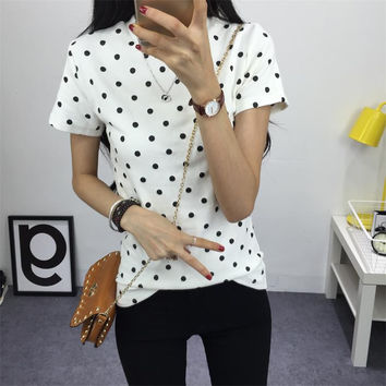 Women's Polka Dotted T-Shirt