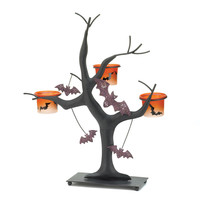 Sparkling And Eerie Halloween Bat Candleholder