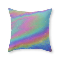 Society6 Holographic Throw Pillow