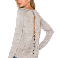 AMUSE SOCIETY Brooke Sweater in Metallic Silver