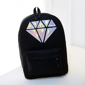 new Canvas Holographic Silver Diamond bags