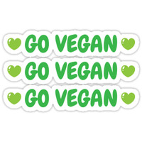'Go vegan stickers' Sticker by Mhea