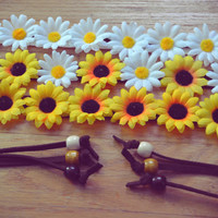 Package Deal FLOWER CROWNS Daisy Flower Crown Sunflower Crown Daises Floral Crown Floral Halo Flower Halo Headpiece Festival Crown Hippie