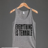 Everything Is Terrible (tank)-Unisex Athletic Grey Tank