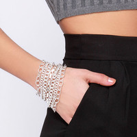 Loose Chain-ge Silver Chain Bracelet