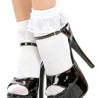 Trashy.com - Lingerie - panties - hosiery - swimsuit models - sexy lingerie - Ankle Socks with Ruffle