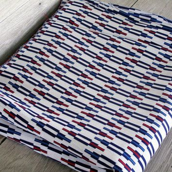 Vintage Red White and Blue Fabric  Cotton Blend by LetterKay