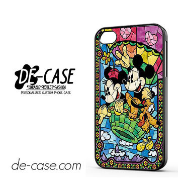 Mickey And Minnie Mouse Stained Glass DEAL-7183 Apple Phonecase Cover For Iphone 4 / Iphone 4S