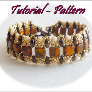 Beading pattern of beaded bracelet Ila - PDF instructions, step by step, tutorial