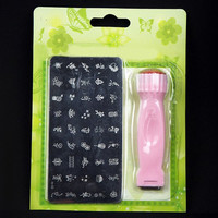 One Set Rectangle Nail Art Template and Manicure Nail Printing Machine
