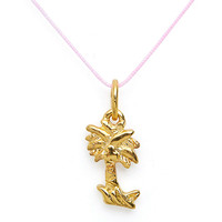 18Kt Plated Gold Charm on Cord - Palm Tree | American Apparel