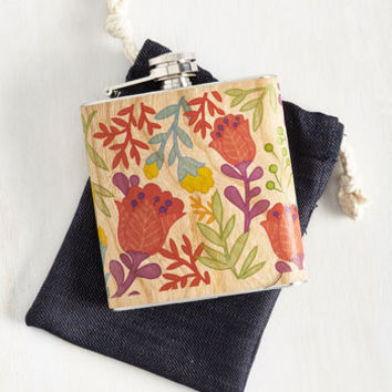 Wood You Like a Sip? Flask in Floral by ModCloth
