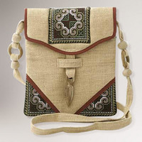 Novica Miracle Red Hemp Shoulder Bag - World Market