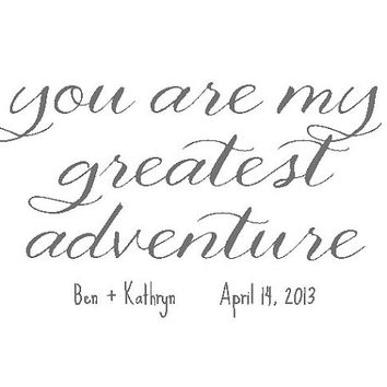 Wedding Gift / Shower Gift-Personalized Print-You are My Greatest Adventure-by paper and palette