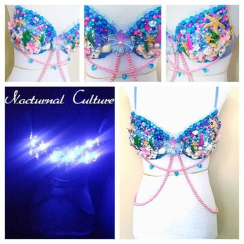 Light-up Mermaid rave bra