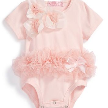 Infant Girl's Popatu Floral Tutu Bodysuit