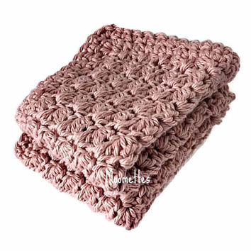 Handmade Dish Cloths Rose Pink Wash Cloths Crochet Kitchen Dishcloths Eco Friendly Cotton Shabby Set of 2