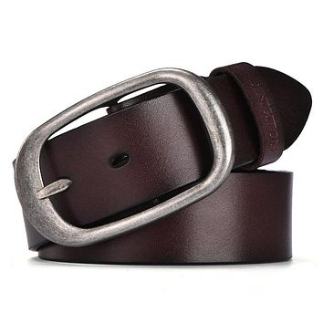Fashion Belts Cow Genuine Leather New Men Fashion Classic Vintage Style Male Belts For Men Pin Buckle