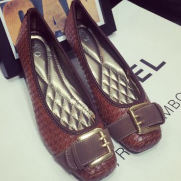 7313d0bfd Best Brown Woven Flats Products on Wanelo