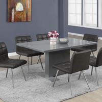 "High Glossy Charcoal Grey 35""X 60"" Dining Table"