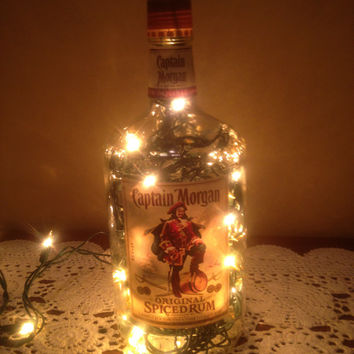 "Custom-made Lit Bottle: ""Captain Morgan"""