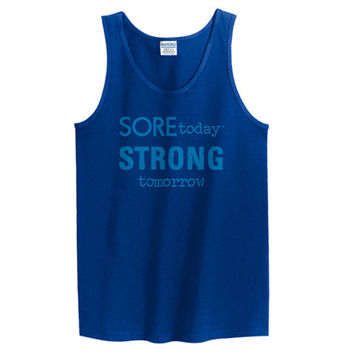 Tank Top Graphic Tank Workout Tank for Women and Men Workout Tank for Men Tank for Women Sore Today Strong Tomorrow