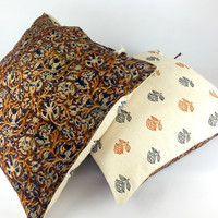 Reversible Pillow, Bohemian Decor, Housewarming Gift, Vintage Ethnic Pillow, Linen pillow, Outdoor Pillow, Country Rustic Designer Pillow
