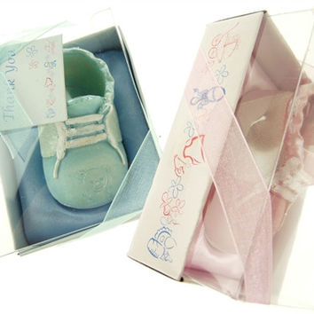 Baby Shower Party Favor   Baby Boy Bootie Shoes, Light Blue