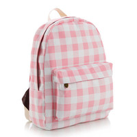 Stylish Canvas Fashion Plaid Backpack = 4887852356