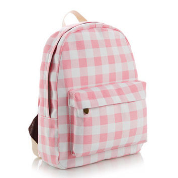 Lovely Korean Cute Canvas Backpack = 4887658244