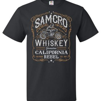 Sons of Anarchy Samcro Whiskey Adult Unisex T-Shirt