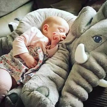 Giant Elephant Stuffed Animal Toy Pillow