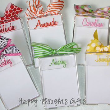 Personalized Monogrammed Notepad Holder Acrylic 4X6