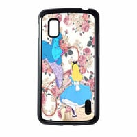 Alice In Wonderland Floral Nexus 4 Case