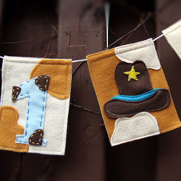I am 1 Cowboy Birthday Banner, Cowboy Nursery Banner, Baby Cowboy Nursery, 1st Birthday, Bunting Banner, Cowboy Decor, Photo Prop, YEEHAW