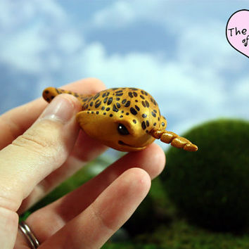 Leopard Narwhal Sculpture