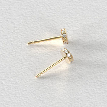Circle Constellation Diamond Stud Earrings