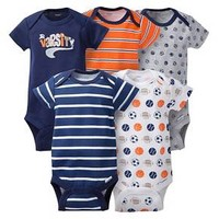 Gerber® Baby Boys' 5pk Sports Onesuits® - Blue/Orange