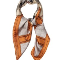 NEW  Burberry Haymarket check silk scarf