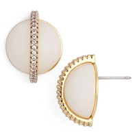 Rachel Zoe 'Stell' Pavé Dome Stud Earrings | Nordstrom