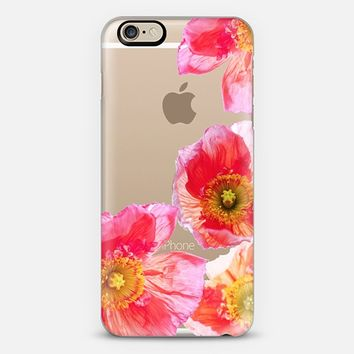 ALWAYS POPPIES by Monika Strigel iPhone 6 Transparent Case iPhone 6 case by Monika Strigel | Casetify