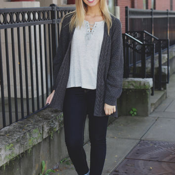 Like A Dream Cardigan - Charcoal