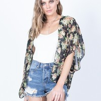 Sheer into Floral Cardigan