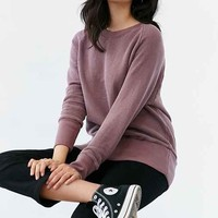 Truly Madly Deeply Piper Button-Back Pullover Sweatshirt